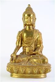 Sale 8860V - Lot 73 - Gilt Metal Buddha H: 28cm