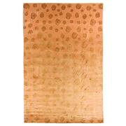 Sale 8890C - Lot 87 - Nepalese Repeating Swirls Carpet in Tonal Gold, 300x400cm, Tibetan Highland Wool & Silk