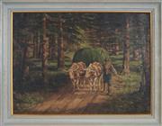 Sale 8958 - Lot 2034 - Emil Englerth (1883 - 1947) - Hay Cart, 1929 45 x 62 cm (frame: 57 x 74 x 5 cm)