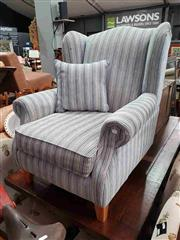 Sale 8934 - Lot 1070 - Fabric Upholstered Wing Back Armchair