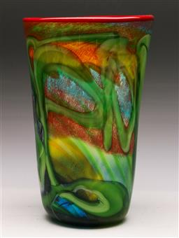 Sale 9131 - Lot 8 - Art glass vase with millefiori pattern (h:29cm)