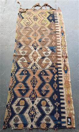 Sale 9146 - Lot 1027 - A vintage kilim wall hanging AF