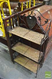 Sale 8390 - Lot 1455 - Metal & Wicker Open Shelves