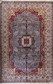 Sale 8447C - Lot 21 - Indian Silk & Wool 280cm x 180cm