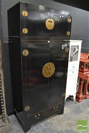 Sale 8489 - Lot 1008 - Oriental 2 Door Cabinet