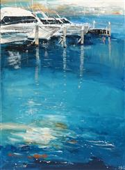 Sale 8665 - Lot 574 - Cheryl Cusick - The Marina 121.5 x 91cm