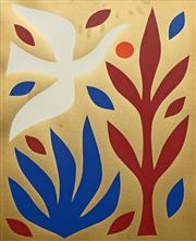 Sale 8722 - Lot 515 - John Coburn (1925 - 2006) - White Bird in the Garden, 1985 49.5 x 40cm