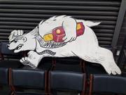 Sale 8723 - Lot 1075 - Hand Painted Bunderburg Rum Bear