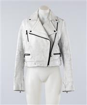 Sale 8760F - Lot 18 - Proenza Schouler Cracked Leather Biker Jacket (size medium)