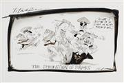 Sale 8883A - Lot 5007 - Bill Leak (1956 - 2017) - The Bleak Picture: T Fischer - The Seperation of Powers 24 x 39 cm