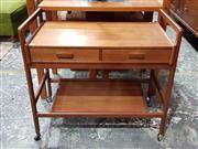 Sale 8930 - Lot 1070 - Vintage Teak 2 Tier Trolley with Drawers