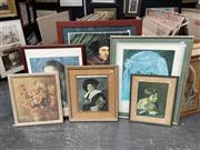 Sale 9061 - Lot 2078 - A collection of decorative prints of famous artworks including Picasso Las Meninas, Maternidad & Frans Hals laughing cavalier (6 works)