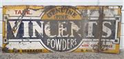 Sale 9092 - Lot 1042 - Vintage VINCENTS tin sign (h:30 x w:76cm)