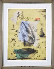Sale 8391 - Lot 50 - Deborah Margaret Bell (1957 - ) - Diary III, 2000 117 x 89cm