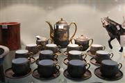 Sale 8306 - Lot 70 - Japanese Matte Glaze Tea Setting (1 saucer a.f.)
