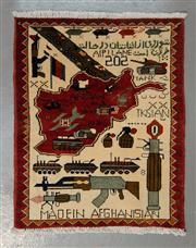 Sale 8472C - Lot 26 - Afghan War Rug 80cm x 67cm