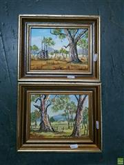 Sale 8582 - Lot 2107 - 2 Susan Robinson, Old Dray & Gums, Oils, both signed