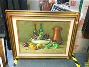 Sale 8627 - Lot 2069 - F. Fiorentino - Still Life, 1974, oil on canvas, 49 x 69cm, signed lower right