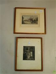 Sale 8631 - Lot 2092 - 2 Prints: De Hoogh & Queensborough, Isle of Sheppy Kent