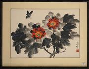 Sale 8734A - Lot 88 - Chinese School - Still Life with Butterfly 49 x 62cm (frame size)