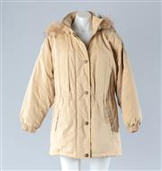 Sale 8782A - Lot 188 - A womens duck down jacket with fur trim to hood and quilted lining, size S