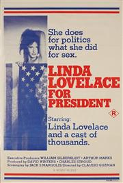 Sale 8822A - Lot 5045 - Linda Lovelace for President - 96 x 65.5cm