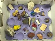 Sale 8822 - Lot 1705 - Box of Fossils, Crystals and Minerals