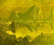 Sale 8839A - Lot 5050 - Lawrence Daws (1927 - ) - Owl Creek, Glasshouse Mountains 1977 101.5 x 122cm