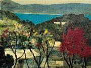 Sale 9072A - Lot 5030 - Ray Crooke (1922 - 2015) - Flame Tree 29 x 39 cm (frame: 52 x 62 cm)