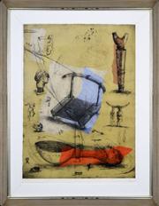 Sale 8391 - Lot 51 - Deborah Margaret Bell (1957 - ) - Diary IV, 2000 117 x 89cm