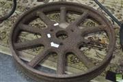 Sale 8289 - Lot 1023 - Rustic Metal Wagon Wheel