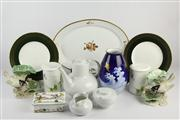 Sale 8436 - Lot 77 - Coalport Chateau Pair of Cabinet Plates with Other Porcelain incl an Arzberg Tea Setting