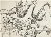 Sale 8504 - Lot 581 - Frank Hodgkinson (1919 - 2001) - Blue Tongue Dreaming, Arnhem Land, June 17, 1980 55 x 74cm