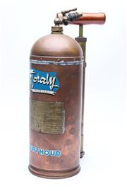 Sale 8725 - Lot 21 - Vintage Copper and Brass Pump