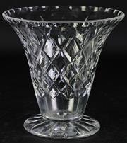 Sale 8985G - Lot 651 - Vintage English Trumpet form Webb Corbett crystal vase, marked to base (H17.25cm)