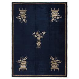 Sale 9124C - Lot 29 - Antique Chinese Peking Rug, Circa 1930, 225x305cm, Handspun Wool