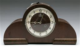 Sale 9156 - Lot 33 - A Saunders of Sydney art deco mantle clock - untested (W:40cm)