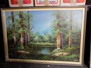 Sale 8413T - Lot 2097 - Hanley, Reflections - Landscape, acrylic on board, 60 x 90cm, signed lower right