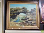 Sale 8474 - Lot 2025 - Paul Sawtell - Untitled (Rock Arch by the Sea), 1975 49.5 x 59.5cm