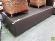 Sale 8507 - Lot 1026 - Large Leather Ottoman