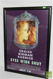 Sale 8512 - Lot 64 - Eyes Wide Shut Signed Poster