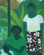 Sale 8565 - Lot 565 - Ray Austin Crooke (1922 - 2015) - Between The Greens 28 x 22.5cm