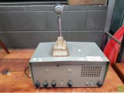 Sale 8625 - Lot 1030 - AWA Vintage Transmitter Together with Desktop Microphone -
