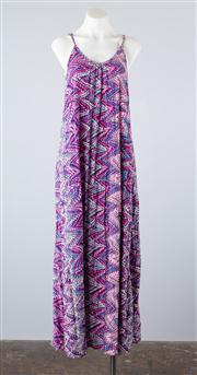 Sale 8685F - Lot 35 - A Miracle sleeveless sun-dress printed with geometric and psychedelic patterns, size S/M