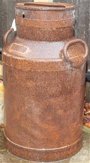 Sale 8984W - Lot 588 - A rustic milk churn height 60cm