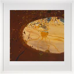 Sale 9123J - Lot 56 - John Olsen Wattle pond limited edition archival pigment print, edition AP 3 framed size 109 x 109cm numbered, titled and signed in p...
