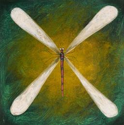 Sale 9081A - Lot 5041 - Kym Hart (1965 - ) - Dragonfly 38.5 x 38.5 cm (frame: 59 x 59 cm)