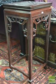 Sale 8317 - Lot 1008 - Chinese Rosewood Stand, with square top & pierced apron