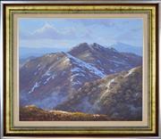 Sale 8339A - Lot 519 - David Brayshaw (1960 - ) - Cross Cut Saw, Barry Mtns, NSW, 1983 51 x 61cm
