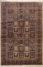 Sale 8447C - Lot 25 - Indian Silk & Wool 215cm x 143cm